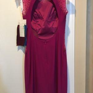 Mon Cheri Dresses - Mon Cheri Mesh and Rhinestone dress